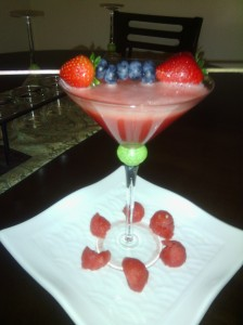 Watermelon non-alcoholic martini