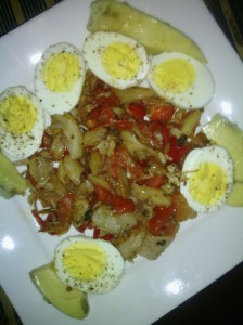 Boiled Eggs and codfish