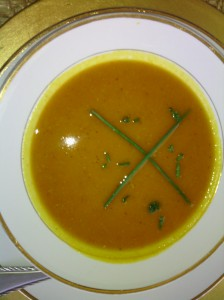 Puree pumpkin/carrot soup done in my blender