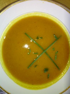 ROASTED PUMPKIN/CARROT SOUP