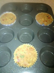 Egg cupcakes ready for the oven