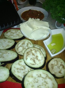 EGGPLANT SLICES READY FOR GRILL