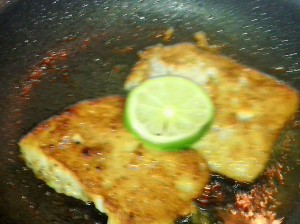 CRUSTY WILD FLOUNDER FISH WITH LIME