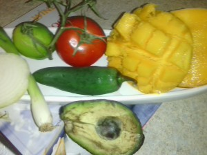 MAIN INGREDIENTS FOR MANGO SALSA