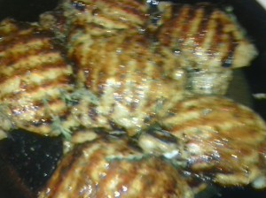 GRILLED CHICKEN THIGHS READY FOR ROASTING
