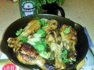 BEER/HONEY ROASTED DRUMSTICKS