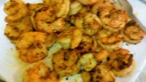 GRILLED SHRIMP READY FOR LINGUINE PASTA