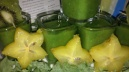SMOOTHIE SHOTS MADE UP OF KALE, KIWI, STAR FRUITS AND LIME JUICE