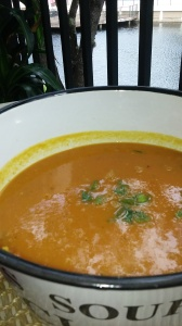 ROASTED CARROT,SWEET POTATO AND PUMPKIN SOUP