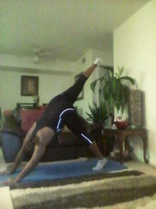 PUTTING A LEG UP WITH A DOWNWARD DOG POSE
