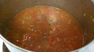 HOME-MADE TOMATO SAUCE FOR GRILLED EGGPLANT