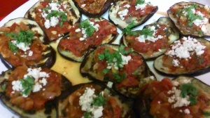 FINISHED EGGPLANT WITH FETA CHEESE DISH