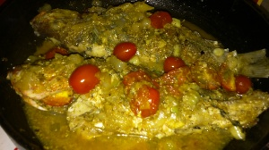 SNAPPER IN COCONUT/CURRY SAUCE