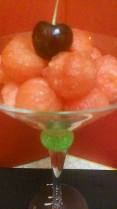 WATERMELON BALLS WITH CHERRY