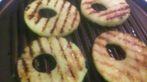 GRILLED PINEAPPLE SLICES FOR CHICKEN AND DESSERT