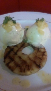 GRILLED PINEAPPLE WITH VANILLA ICECREAM