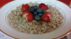 HOT FARRO WITH FRESH BERRIES