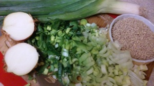PREPPING FOR LEEK AND BARLEY SOUP